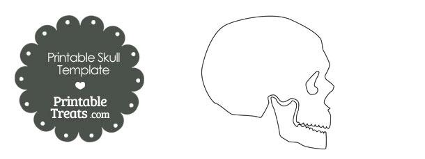 Printable Human Skull Template — Printable Treats.com