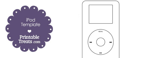 Printable iPod Outline