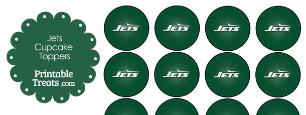 Printable Jets Logo Cupcake Toppers
