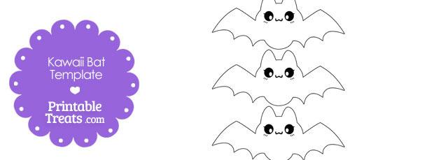 Printable Kawaii Bat Templates