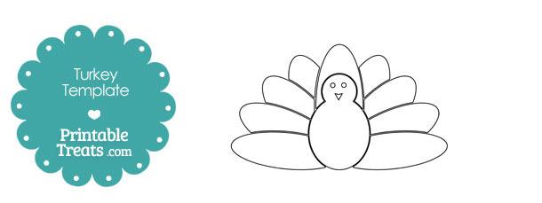 Printable Kids Turkey Shape Template