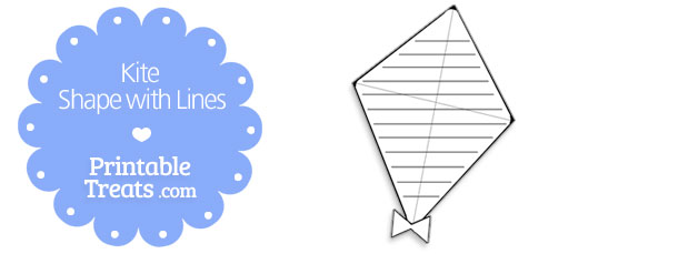 free-printable-kite-shape-with-lines