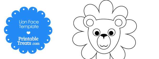 free-printable-lion-face-template