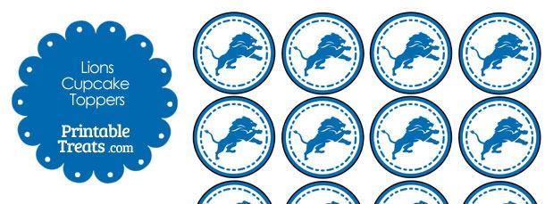 Printable Lions Logo Cupcake Toppers