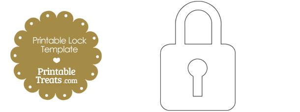 Printable Lock Shape Template
