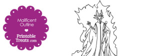 Printable Maleficent Outline