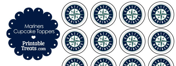 Printable Mariners Logo Cupcake Toppers