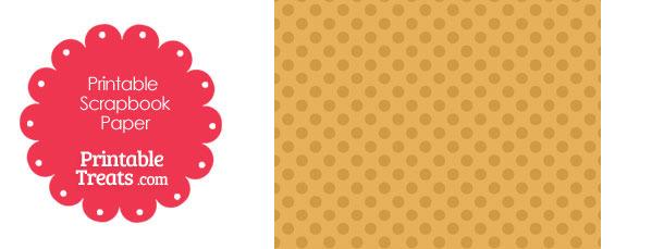 Printable Orange Polka Dot Paper from PrintableTreats.com