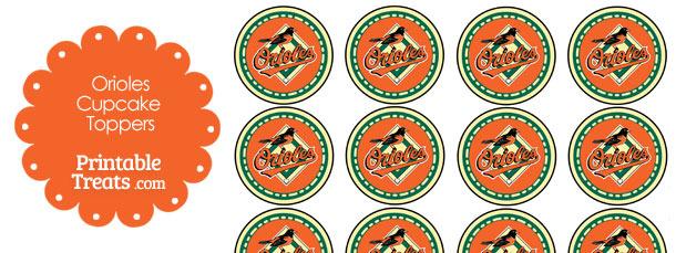 Printable Orioles Logo Cupcake Toppers