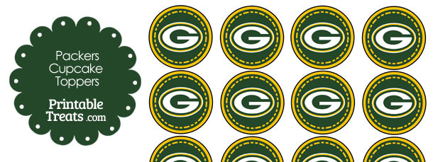 Printable Packers Logo Cupcake Toppers