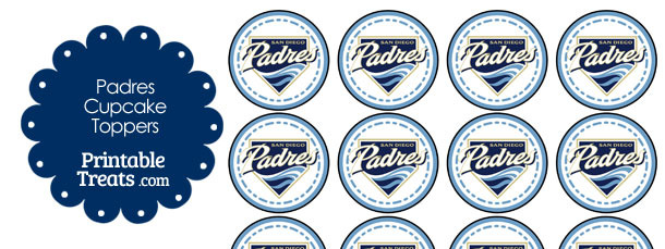 Printable Padres Logo Cupcake Toppers