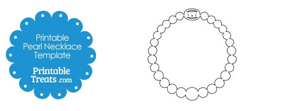 Printable Pearl Necklace Template