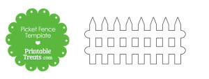 Printable Picket Fence Outline