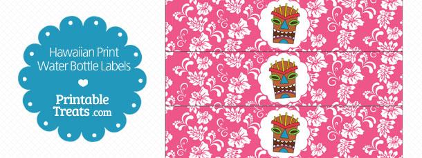 free-printable-pink-hawaiian-print-water-bottle-labels
