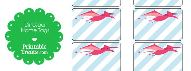 free-printable-pink-pterodactyl-dinosaur-name-tags
