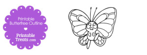 Printable Pokemon Butterfree Outline