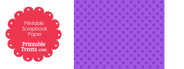 Printable Purple Polka Dot Paper from PrintableTreats.com
