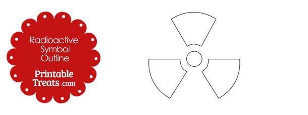 Printable Radioactive Symbol Outline