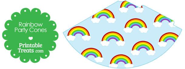 free-printable-rainbow-party-cones