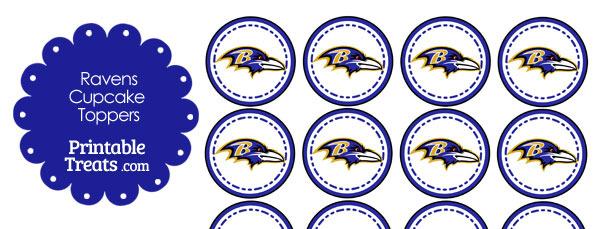 Printable Ravens Logo Cupcake Toppers