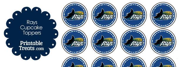 Printable Rays Logo Cupcake Toppers