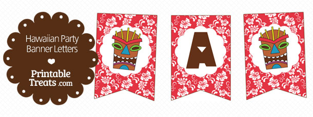 free-printable-red-hawaiian-party-banner