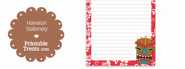 free-printable-red-hawaiian-stationery