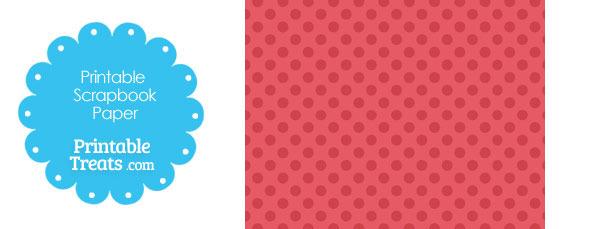 Printable Red Polka Dot Paper from PrintableTreats.com