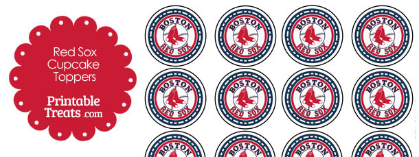 Printable Red Sox Logo Cupcake Toppers