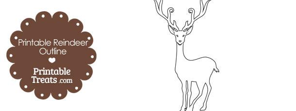 Printable Reindeer Outline