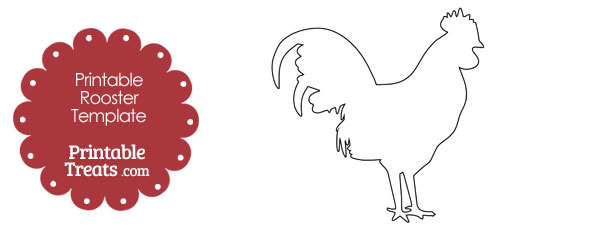 Printable Rooster Shape