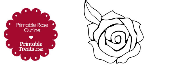 Printable Rose Outline