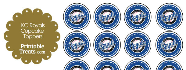 Printable Royals Logo Cupcake Toppers