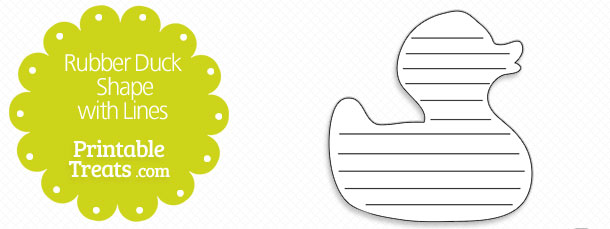 free-printable-rubber-duck-shape-with-lines