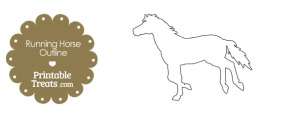 Printable Running Horse Outline