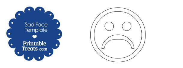 Printable Sad Face Template