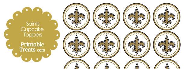 Printable Saints Logo Cupcake Toppers