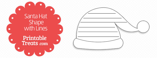 free-printable-santa-hat-shape-with-lines
