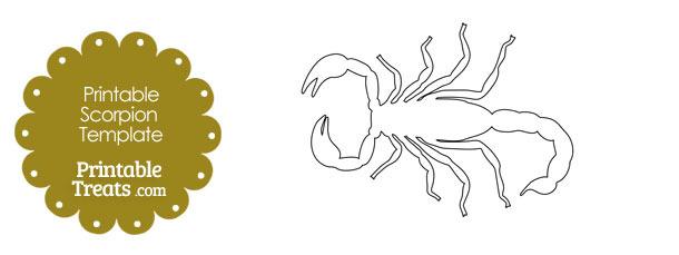 Printable Scorpion Shape Template