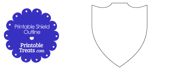 Printable Shield Outline