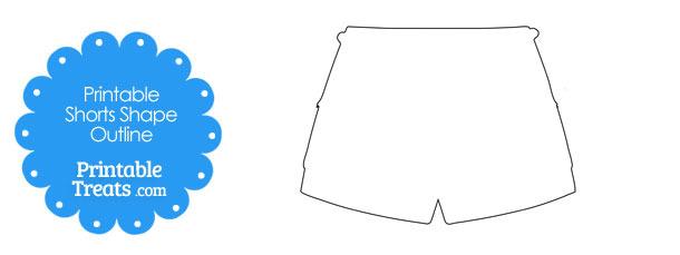 Printable Shorts Shape Template