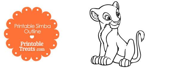 Printable Simba Outline