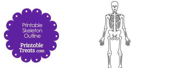 Printable Skeleton Outline