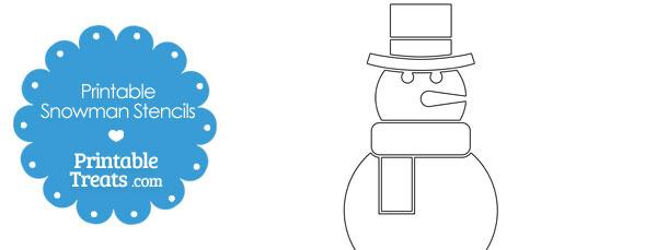 Printable Snowman Stencils