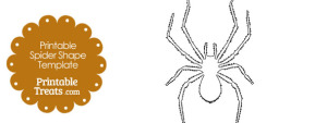 Printable Spider Shape Template