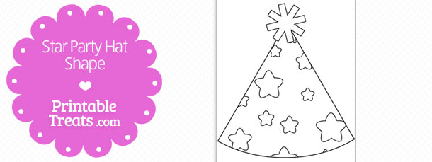free-printable-star-party-hat-shape