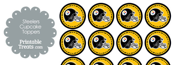 Pittsburgh Steelers Cupcake Toppers