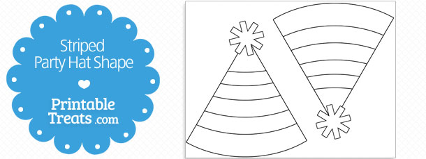 free-printable-striped-party-hat-shape