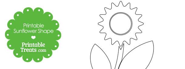Printable Sunflower Shape Template