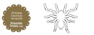 Printable Tarantula Shape Template